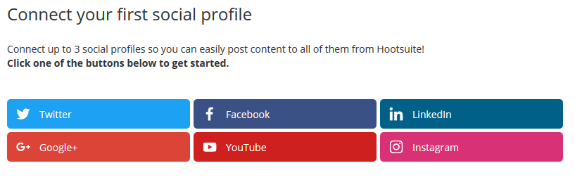 Connect social profiles