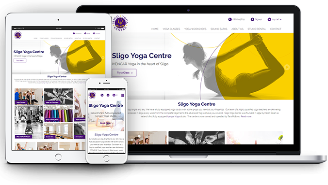 Website design for Sligo Yoga Centre